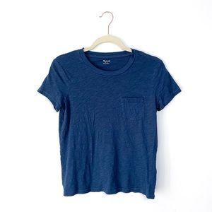 Madewell Blue Pocket Short Sleeve Tee